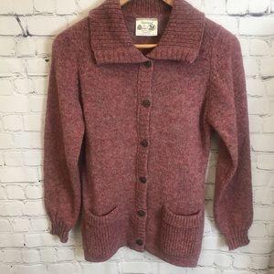 Shetland Pure Wool Cardigan Size Small